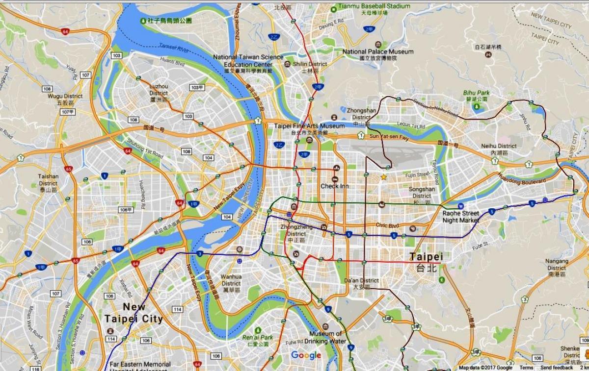 Taipei Cykel Kort Taipei Cykling Kort Taiwan